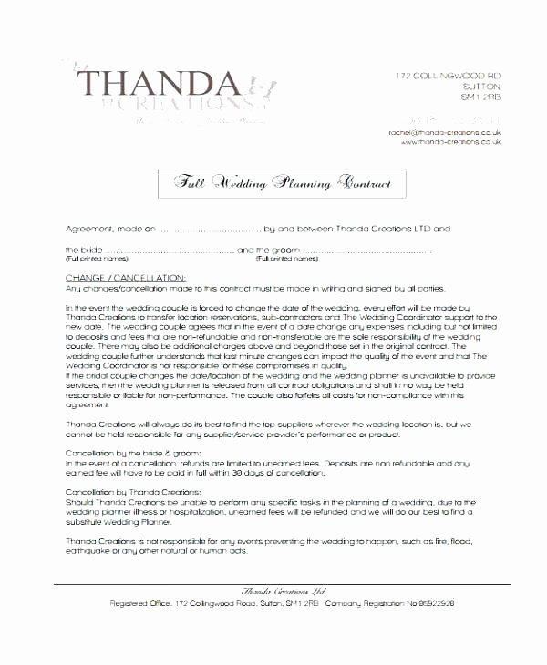 Wedding Vendor Contract Template Awesome Simple Vendor Agreement Template – Viabcp