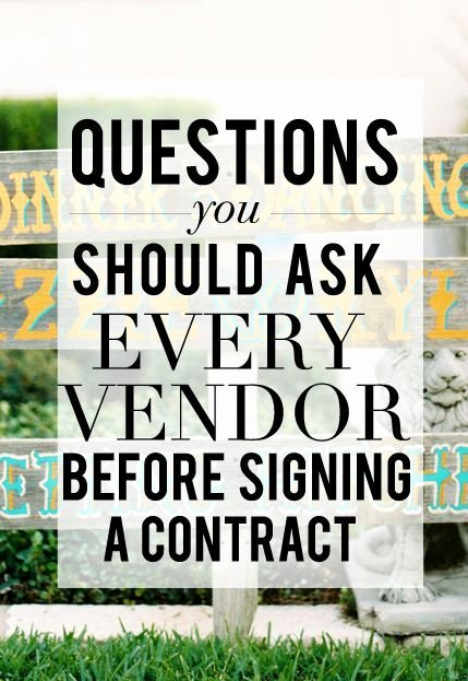 Wedding Vendor Contract Template Elegant Wedding Vendor Tips Corporate event Planning