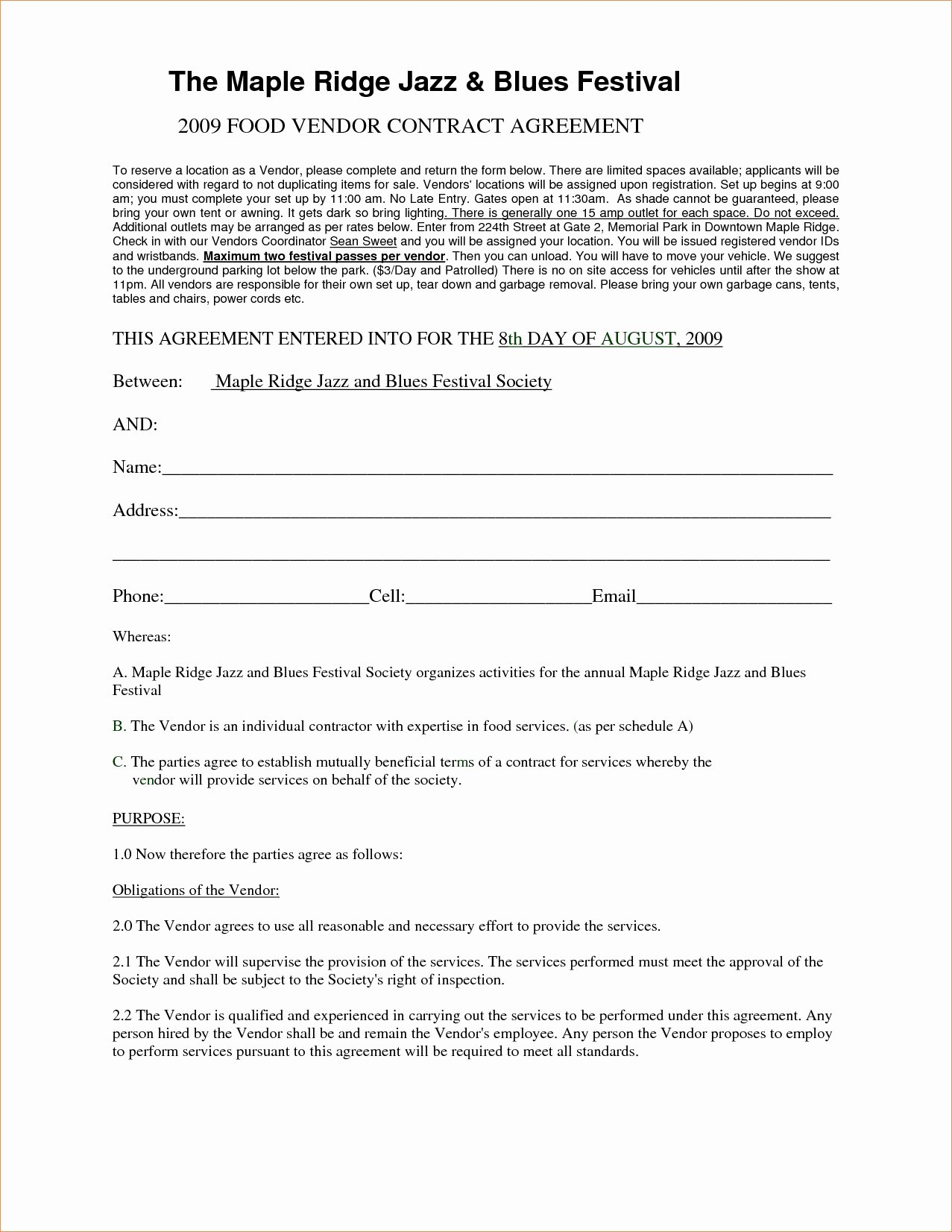 Wedding Vendor Contract Template Fresh Investment Agreement Template Doc Quick Simple Investment