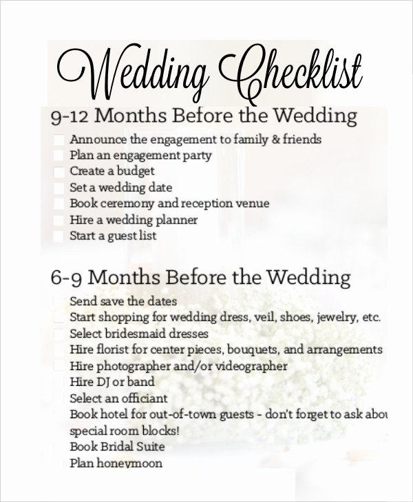 Wedding Venue Checklist Printable Unique Simple Wedding Checklist 27 Free Word Pdf Documents Download