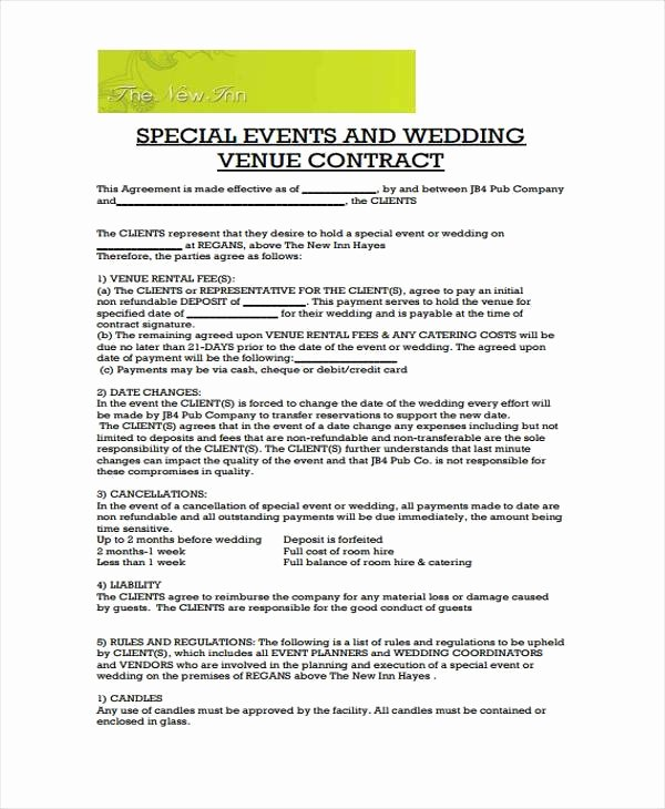 Wedding Venue Contract Sample Unique Wedding Venue Contract Template – Emmamcintyrephotography