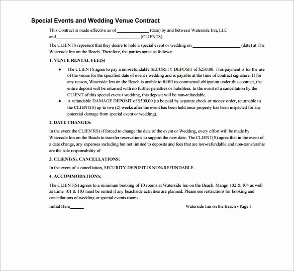 Wedding Venue Contract Template Best Of Wedding Contract Template 23 Download Documents In Pdf Word Google Docs