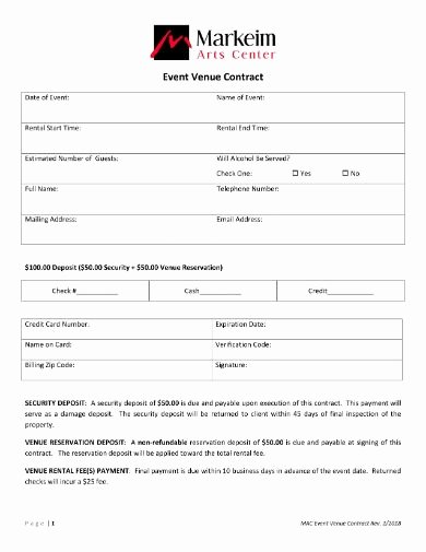 Wedding Venue Contract Template Fresh 10 event Venue Contract Sample Example format