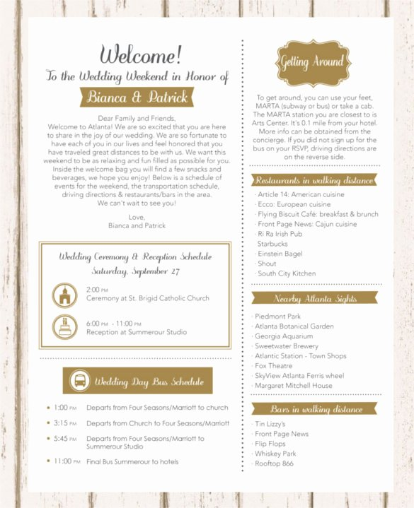 Wedding Welcome Letter Template Beautiful 17 Wedding Template Doc Excel Pdf Psd Indesign