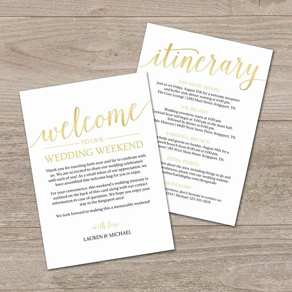 Wedding Welcome Letter Template Inspirational Wedding Itinerary Template Printable Wedding Wel E Letter Wel E Bag Note for Wedding In