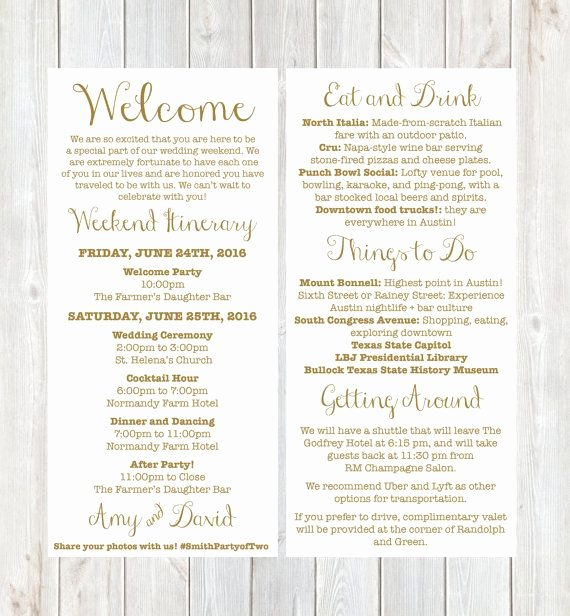 Wedding Welcome Letter Template Lovely Wel E Letter Weekend Itinerary Wedding Itinerary by Designandpop Wedding Ideas P