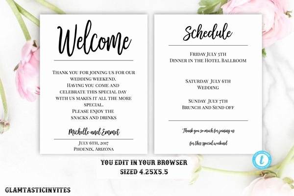 Wedding Welcome Letter Template New Wedding Wel E Note Template Wel E Note Wedding Template You Edi – Glamtasticinvites