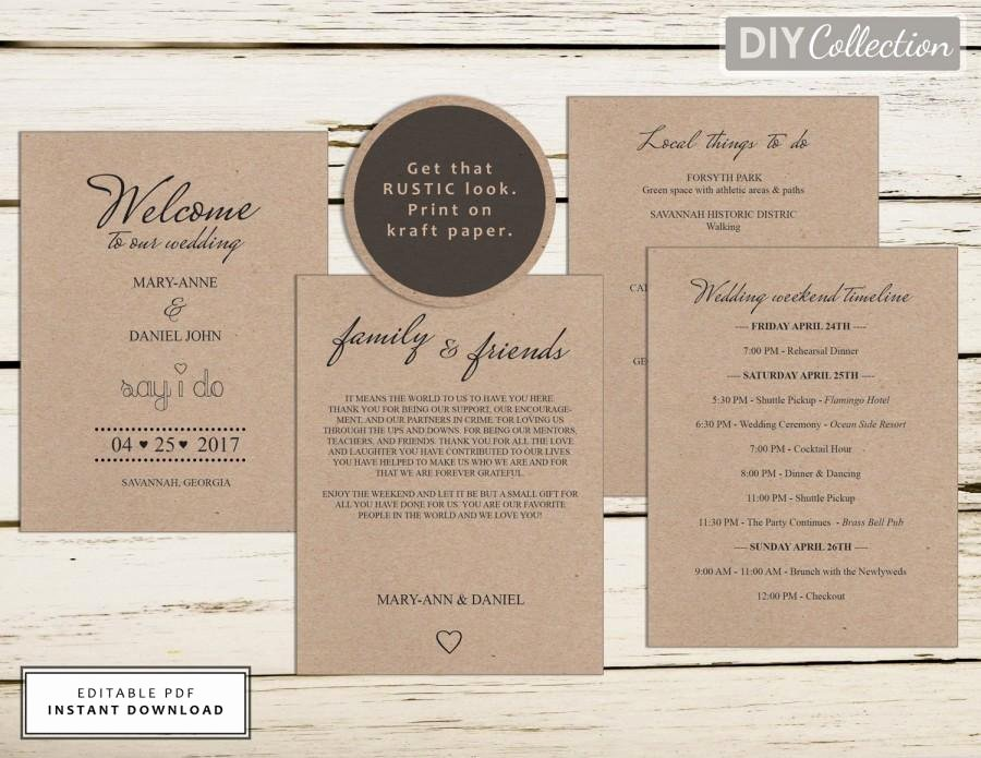 Wedding Welcome Letter Template Unique Wedding Wel E Letter Template