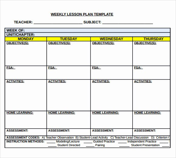 Weekly Lesson Plan Template Doc Awesome Sample Middle School Lesson Plan Template 7 Free Documents In Pdf Word