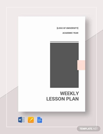 Weekly Lesson Plan Template Doc Fresh Free 7 Sample Weekly Lesson Plans In Google Docs Ms Word Pages