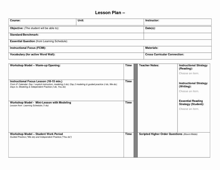 Weekly Lesson Plan Template Doc Inspirational Pin On Education