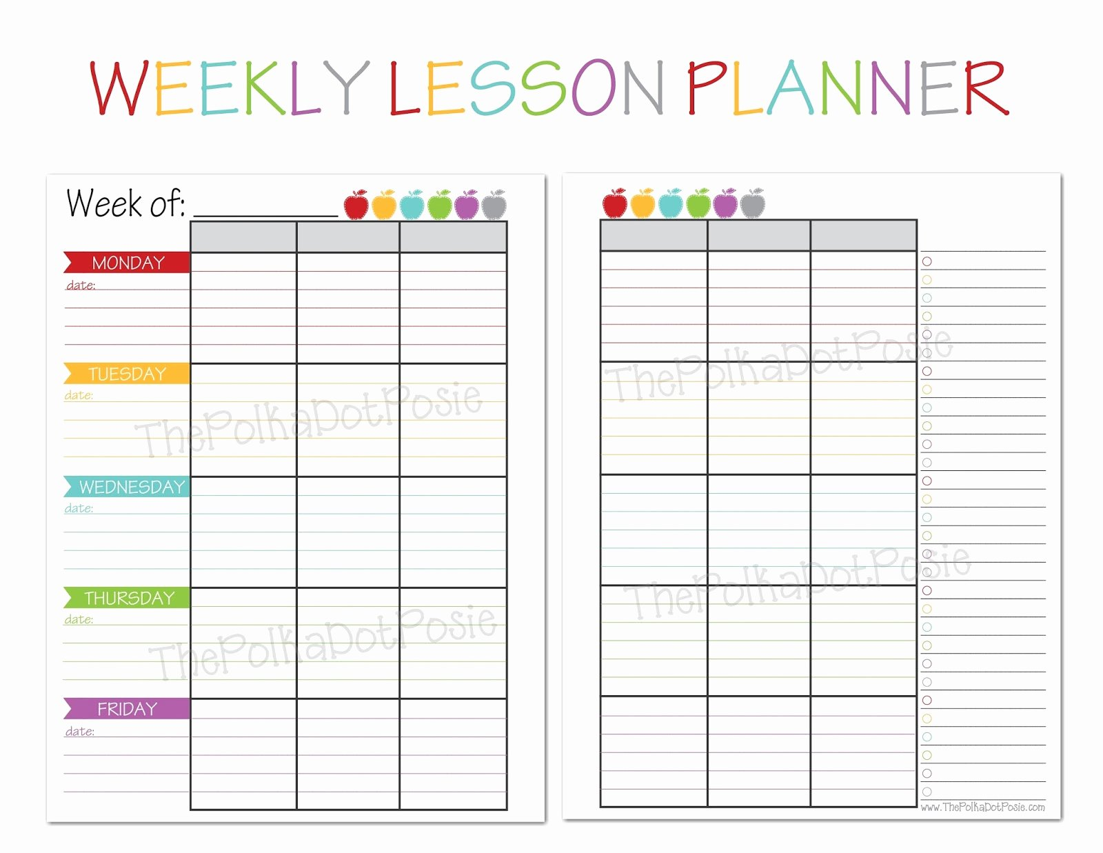 Weekly Lesson Plan Template Elementary Beautiful Free Printable Templates for Teachers