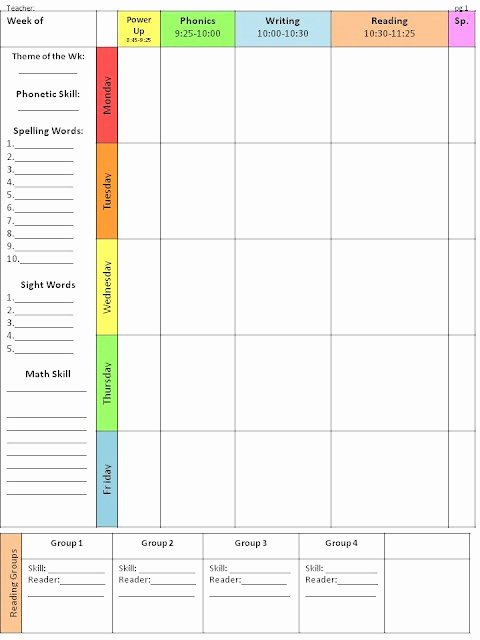 Weekly Lesson Plan Template Elementary Best Of Easy to Use & Customizable Lesson Plan Template
