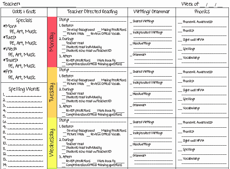 Weekly Lesson Plan Template Elementary Best Of Ms M S Blog 2 New Lesson Plan Templates