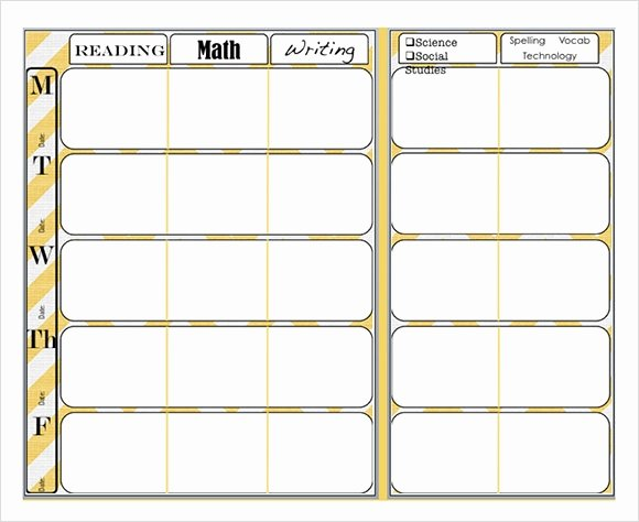 Weekly Lesson Plan Template Elementary Luxury Free 7 Sample Weekly Lesson Plans In Google Docs