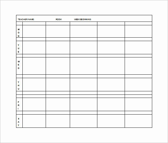 Weekly Lesson Plan Template Elementary New Elementary Lesson Plan Template 11 Free Word Excel
