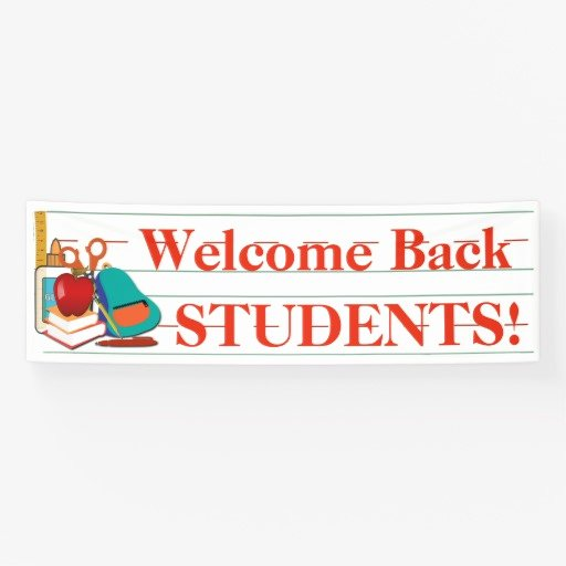Welcome Banners for School Best Of Wel E Back Students Customizable School Banner