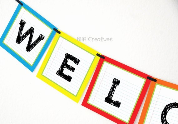 Welcome Banners for School Best Of Wel E Back to School Banner School Supplies Diy