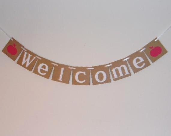 Welcome Banners for School Best Of Wel E Banner Back to School Banner Teacher S Banner