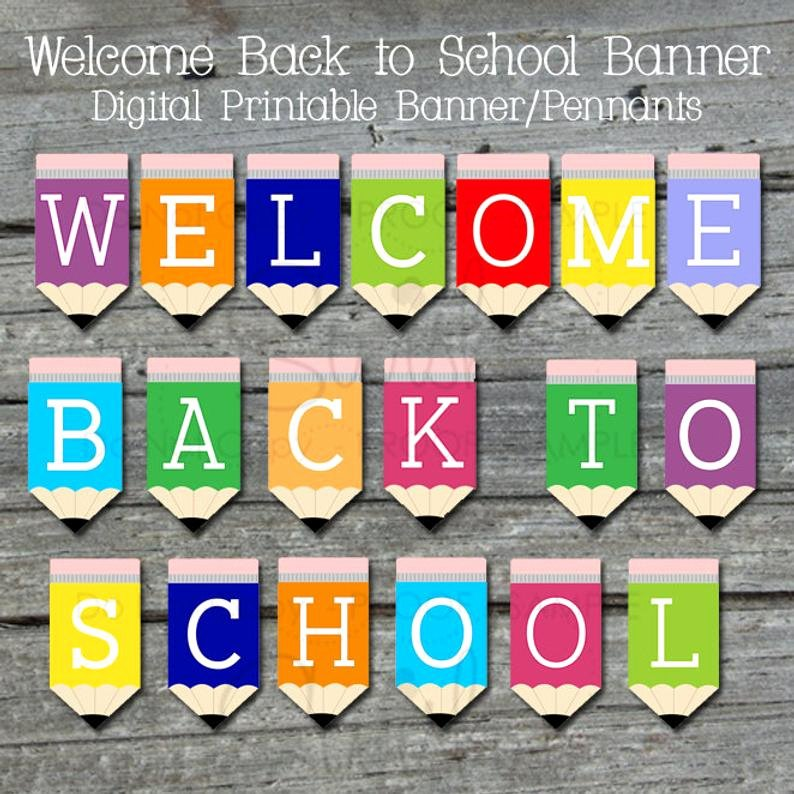 Welcome Banners for School Elegant Wel E Back Printable Banner Back to School Sign Teacher