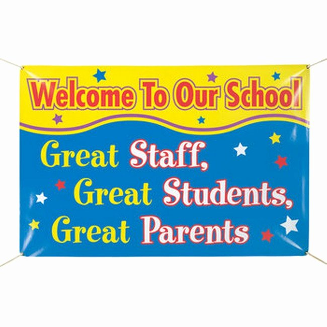 Welcome Banners for School Fresh Wel E to Our School Munity Banner