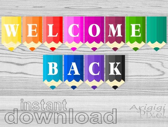 Welcome Banners for School Luxury Wel E Back Printable Banner Pencils Classroom Pennants Back
