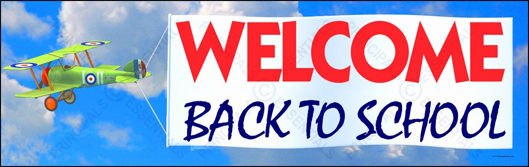 Welcome Banners for School New Plane Wel E Back Banner