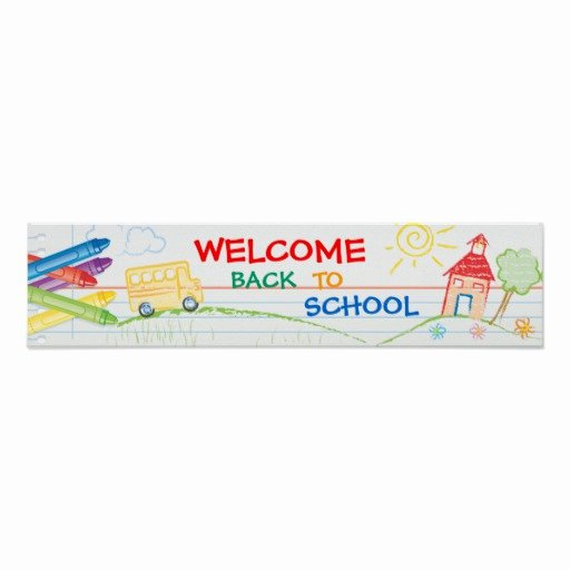 Welcome Banners for School New Wel E Back to School Banner Poster