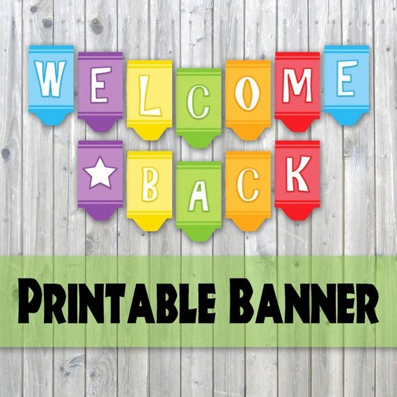 Welcome Banners for School Unique Wel E Back Crayon Design Printable Banner Back to School