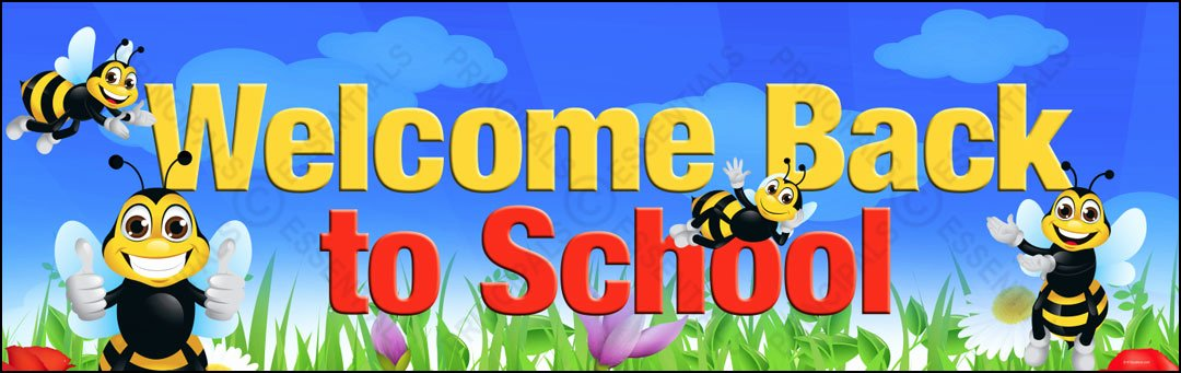 Welcome Banners for School Unique Wel E Bumble Bees Vinyl Banner