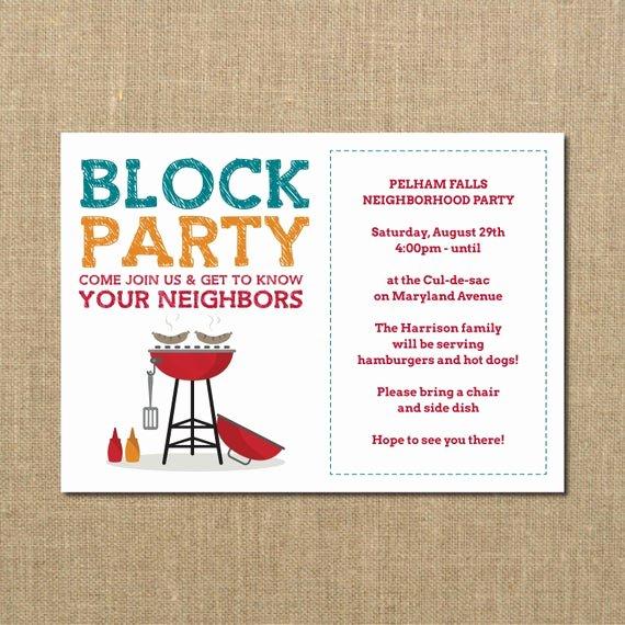 neighborhood block party cookout