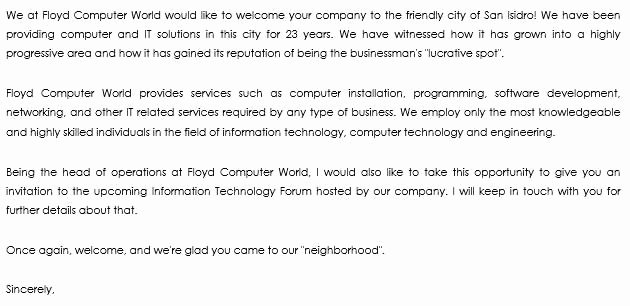 Welcome to the Neighborhood Letter Best Of 10 Wel E Letter Examples to Wel E New Members