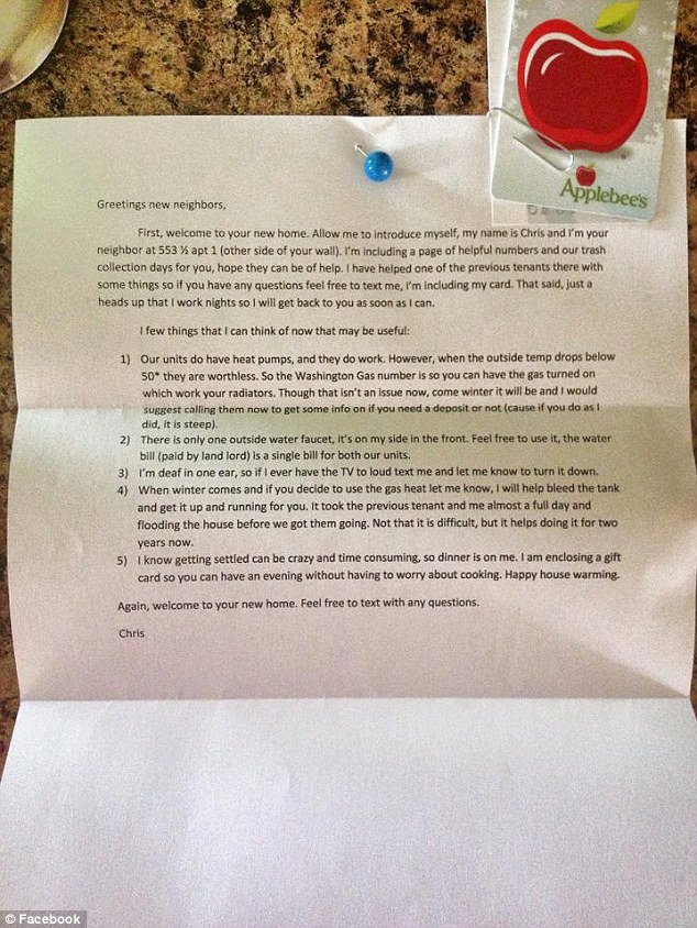Welcome to the Neighborhood Letter Elegant Wel E Letter From Neighbor which Included Offer to Help Bleed Gas Tank Goes Viral