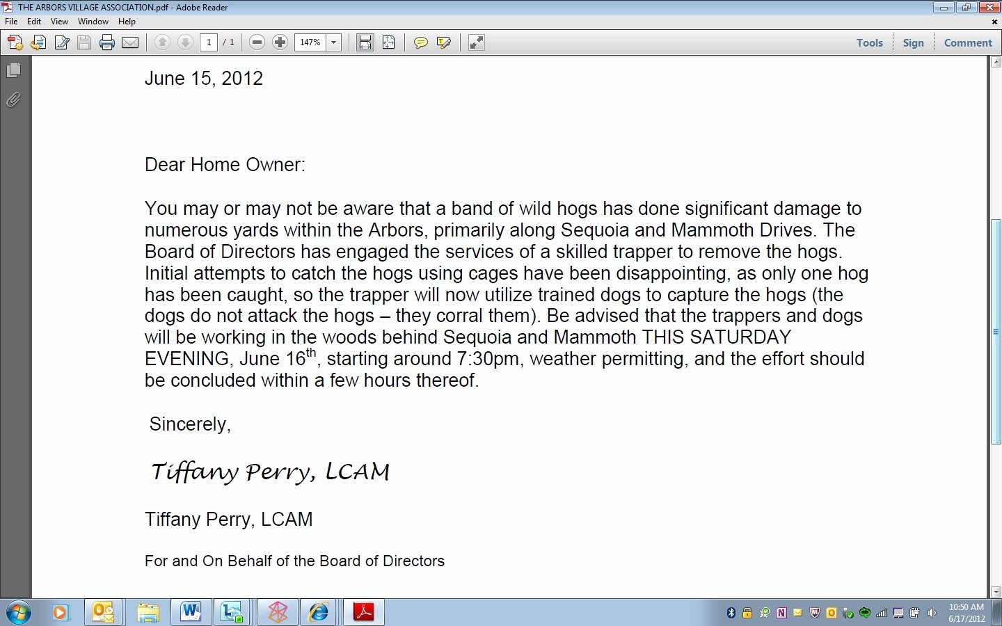 Welcome to the Neighborhood Letter Lovely Best Letter Ever From Hoa the Hull Truth Boating and Fishing forum