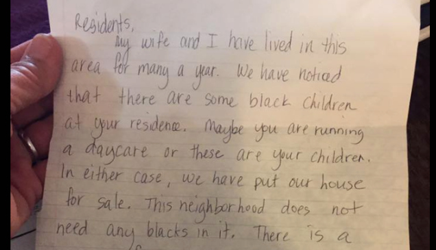 Welcome to the Neighborhood Letter Luxury Kan Woman Receives Racist Letter This Neighborhood Does Not Need Any Blacks In It