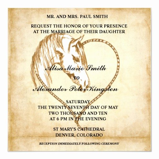 Western theme Wedding Invitations Best Of Horse Western Wedding Invitations Announcements