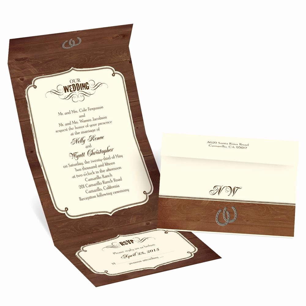 Western theme Wedding Invitations Best Of Rustic Wedding Seal and Send Invitation