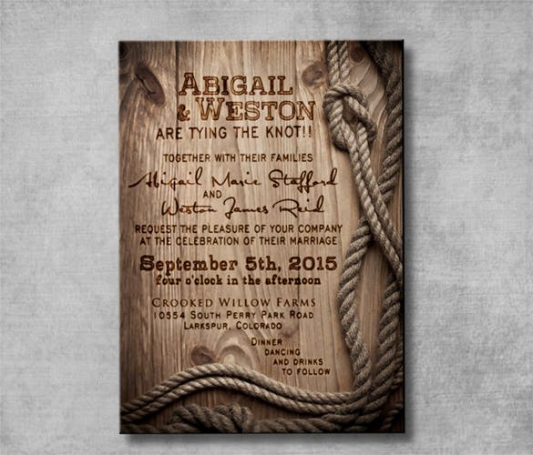 Western theme Wedding Invitations Elegant Free Printable Western Wedding Invitations