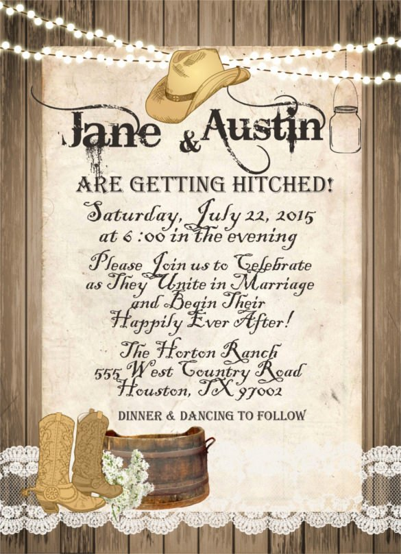 Western theme Wedding Invitations Elegant Western theme Party Invitation Wording – Invitation