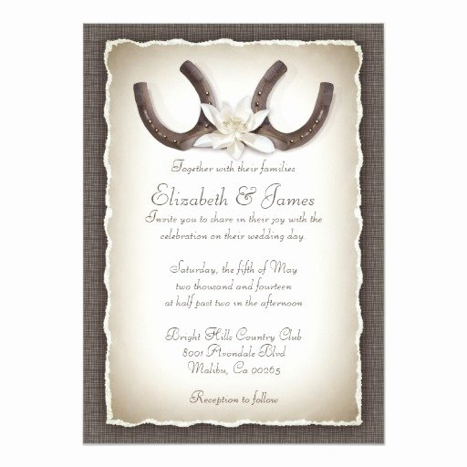 Western theme Wedding Invitations Elegant Western Wedding Invitations