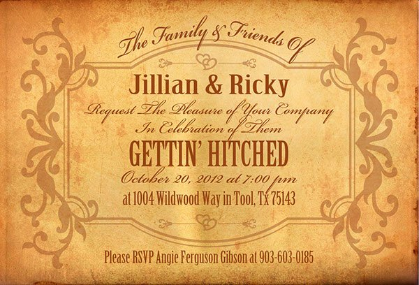 Western theme Wedding Invitations New Western themed Wedding Invitations On Behance
