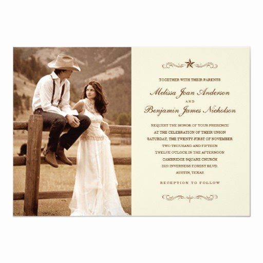 Western theme Wedding Invitations Unique Vintage Western Wedding Invitations