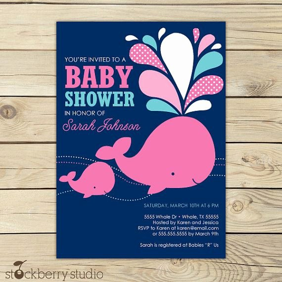 Whale Baby Shower Free Printables Inspirational Girl Whale Baby Shower Invitation Printable Pink Whale