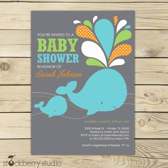 Whale Baby Shower Free Printables Inspirational Whale Baby Shower Invitation Printable Boy Whale Baby Shower