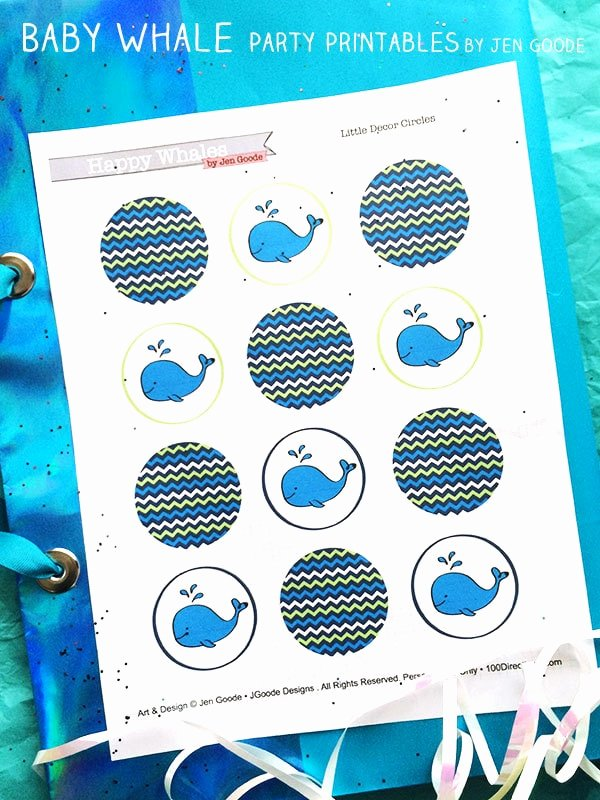 Whale Baby Shower Free Printables Luxury Cute Baby Whale Party Printables 100 Directions
