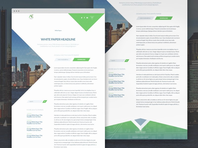 White Paper Design Template Luxury Aem • Whitepaper by Shane Helm Dribbble