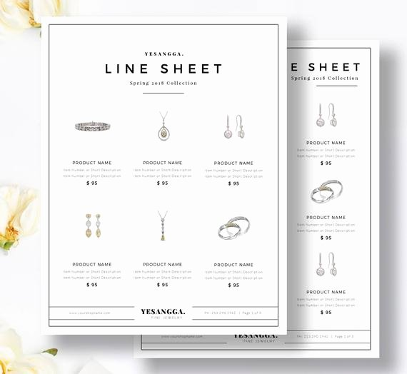 Wholesale Line Sheet Template Awesome Minimalist Line Sheet Template wholesale Catalog 4 Layouts