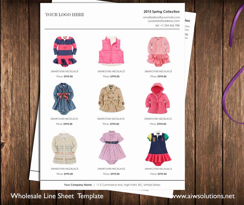 Wholesale Line Sheet Template Unique wholesale Linesheet Template Line Sheet Template Product Brochure Minimalist wholesale Sheet