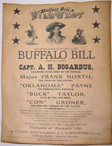 Wild West Wanted Posters Awesome Buffalo Bill Cody Wild West Show Poster Old West Western Wanted