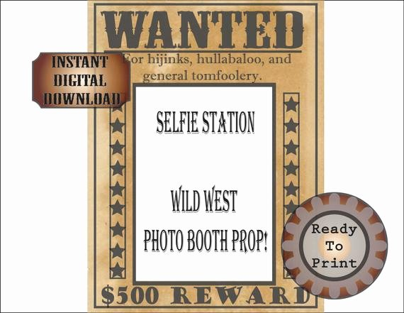Wild West Wanted Posters Inspirational Wild West Wanted Poster Selfie Station Printable Bachelorette
